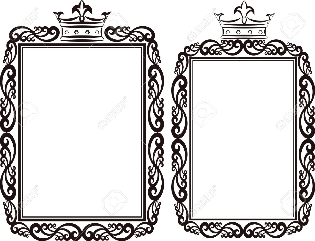 royal border clip art illustration royalty free cliparts vectors rh 123rf com free clipart borders for text boxes free clipart borders for labels