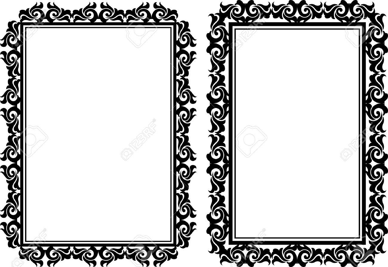 Beautiful Rectangular Picture Frames Festooning - Picture Frame ...