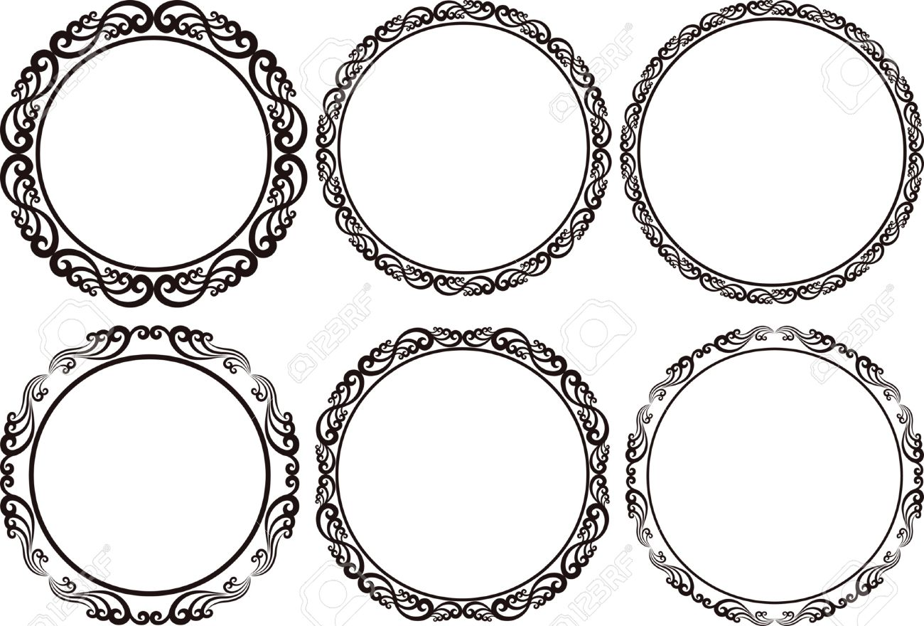 Set of round frames design elements royalty free cliparts vectors set of round frames design elements stock vector 23211265 thecheapjerseys Images