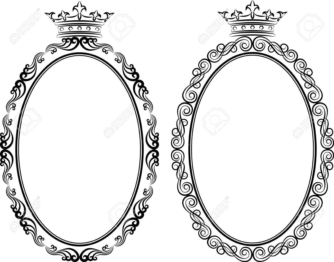 Decorative Frames With Crown Royalty Free Cliparts, Vectors, And ...