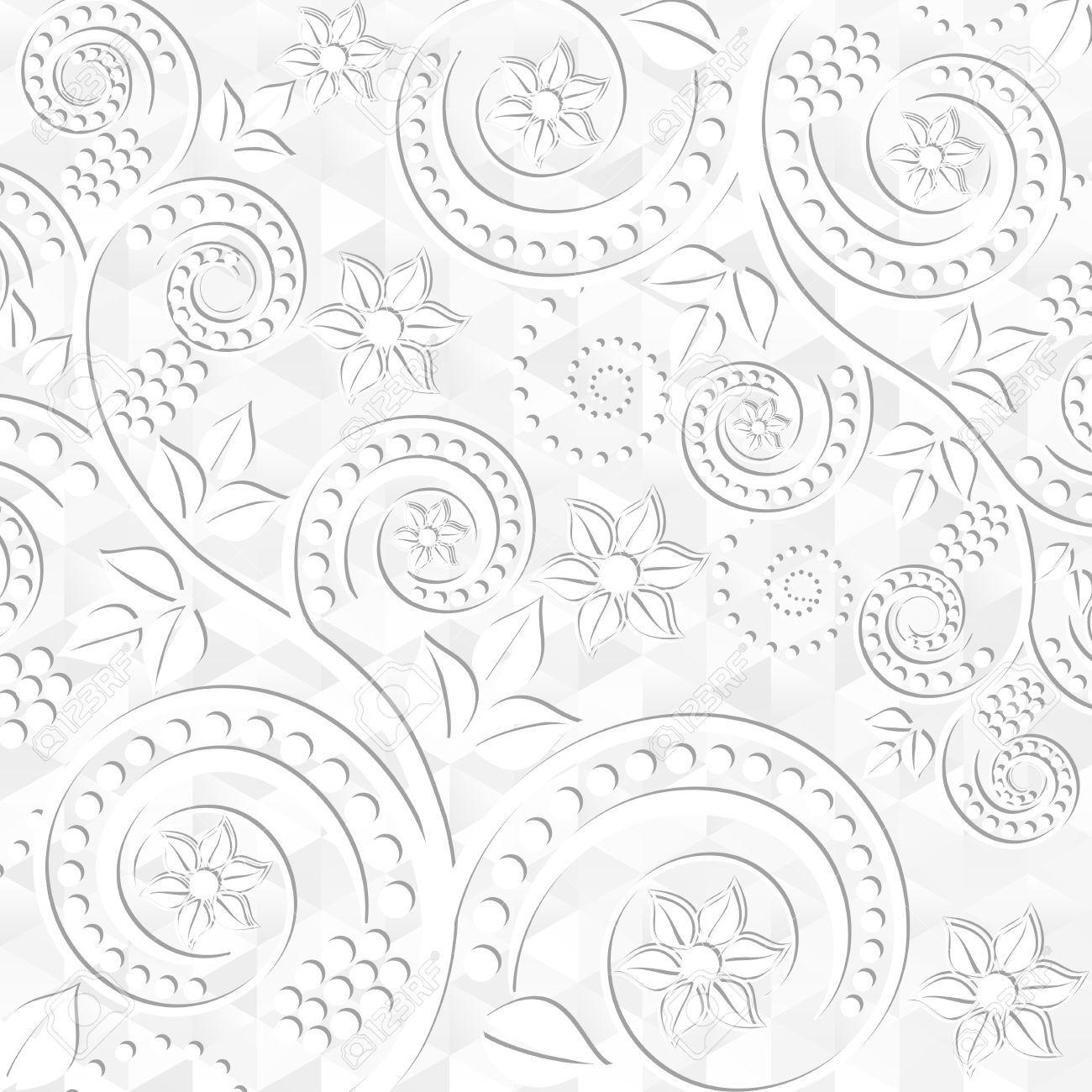 White Floral Background Royalty Free Cliparts Vectors And Stock