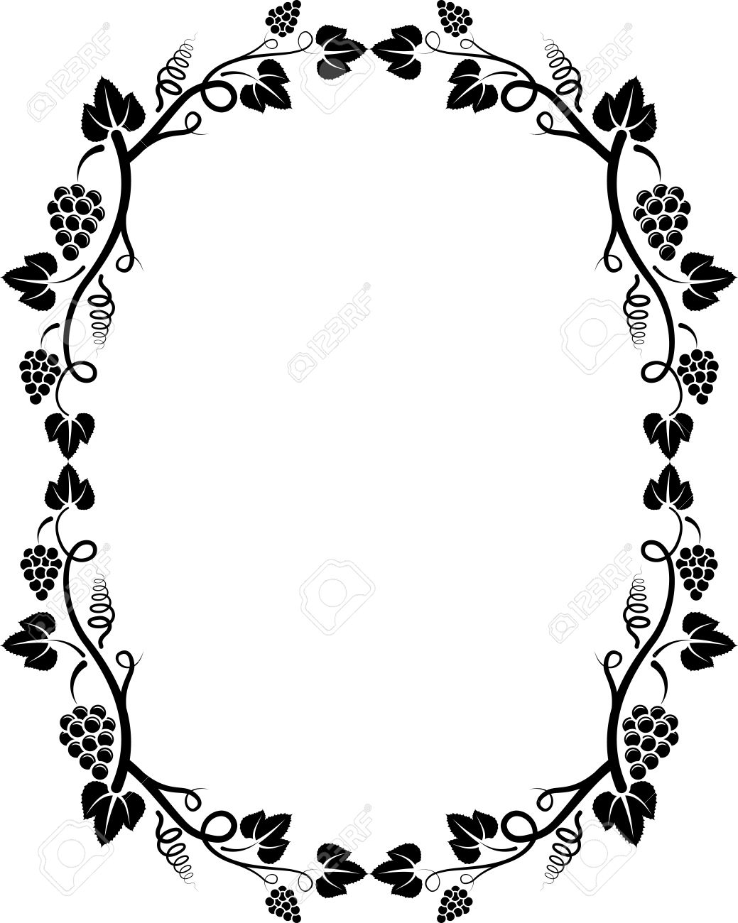silhouette of grapevine frame royalty free cliparts vectors and rh 123rf com grapevine pictures clip art grapevine clip art free