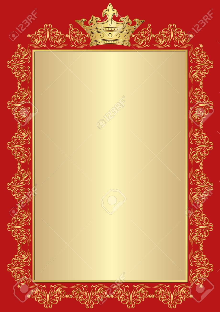 372cd79fd3a Antique Background With Golden Royal Frame Royalty Free Cliparts ...