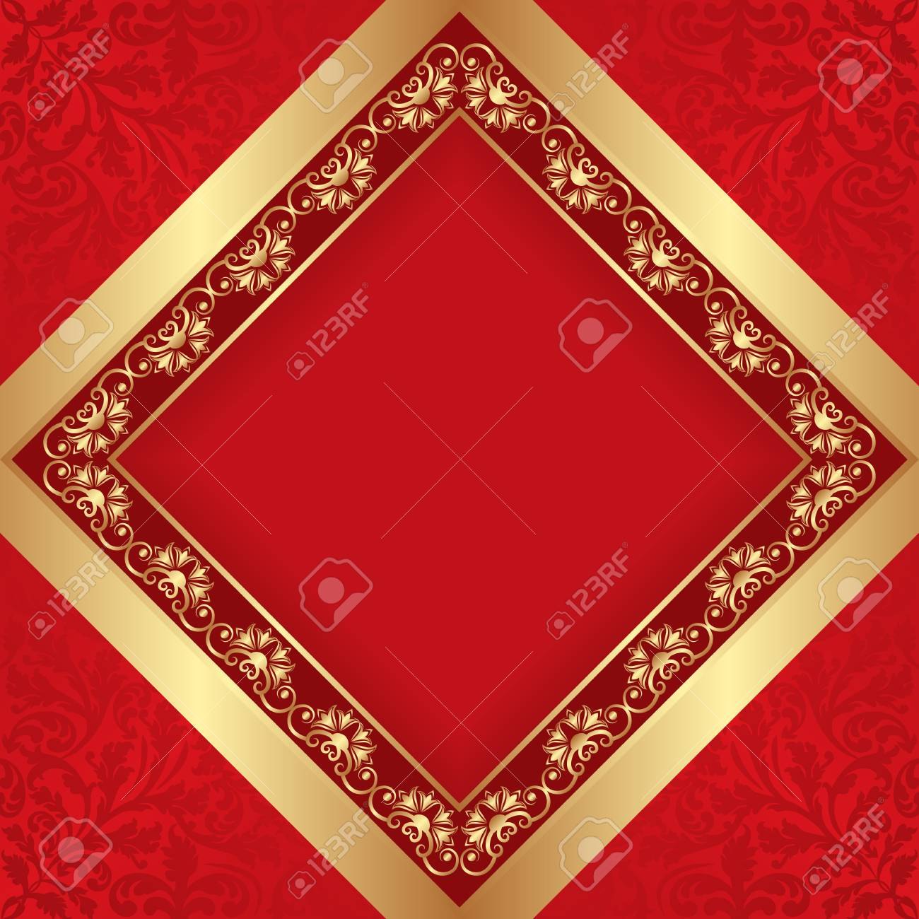 1545b0f3273 antique background with golden border Stock Vector - 52617072