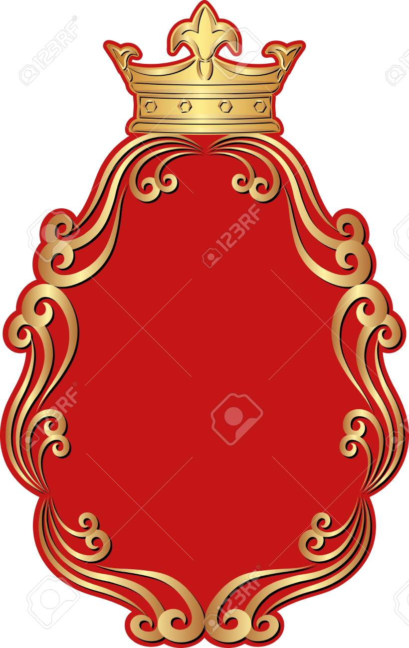 2e66f8000fd isolated royal frame with crown Stock Vector - 53237907