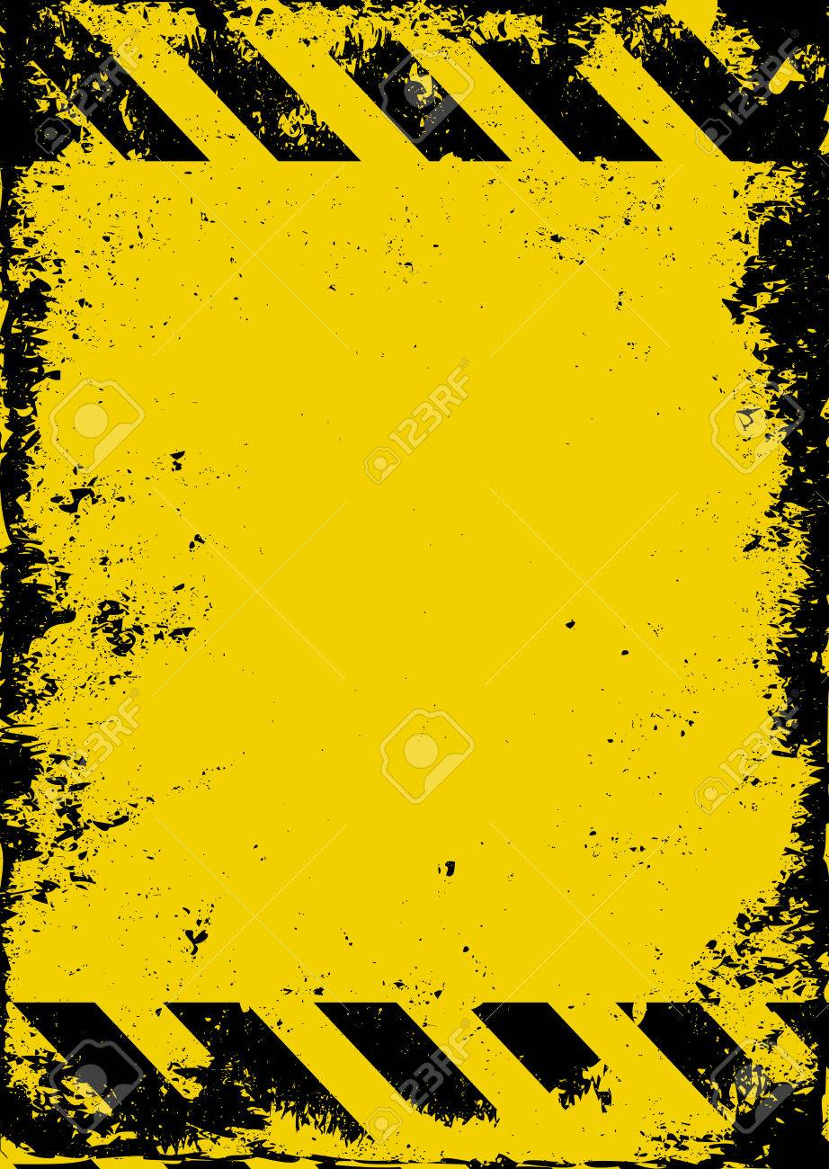 grunge hazard background - 56880403