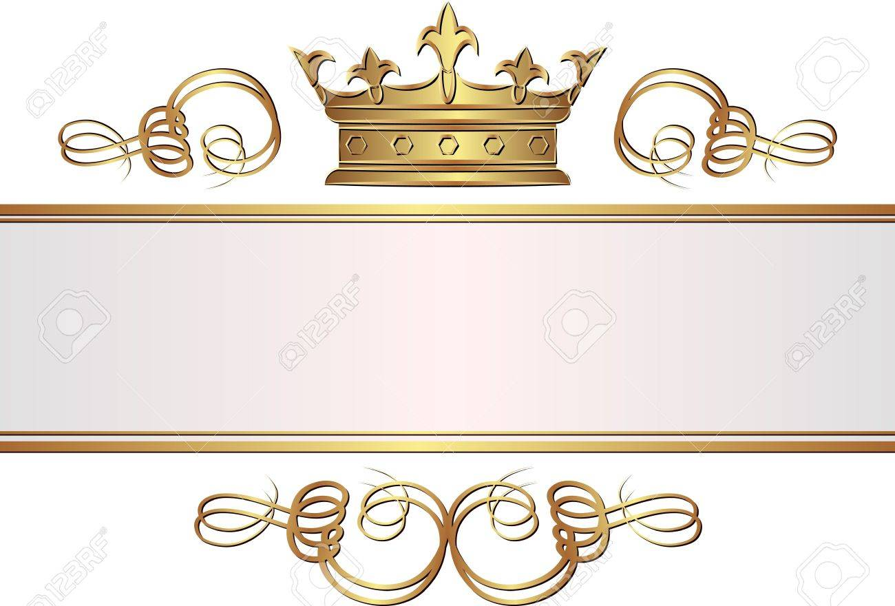 vintage banner with crown royalty free cliparts, vectors, and, Powerpoint templates