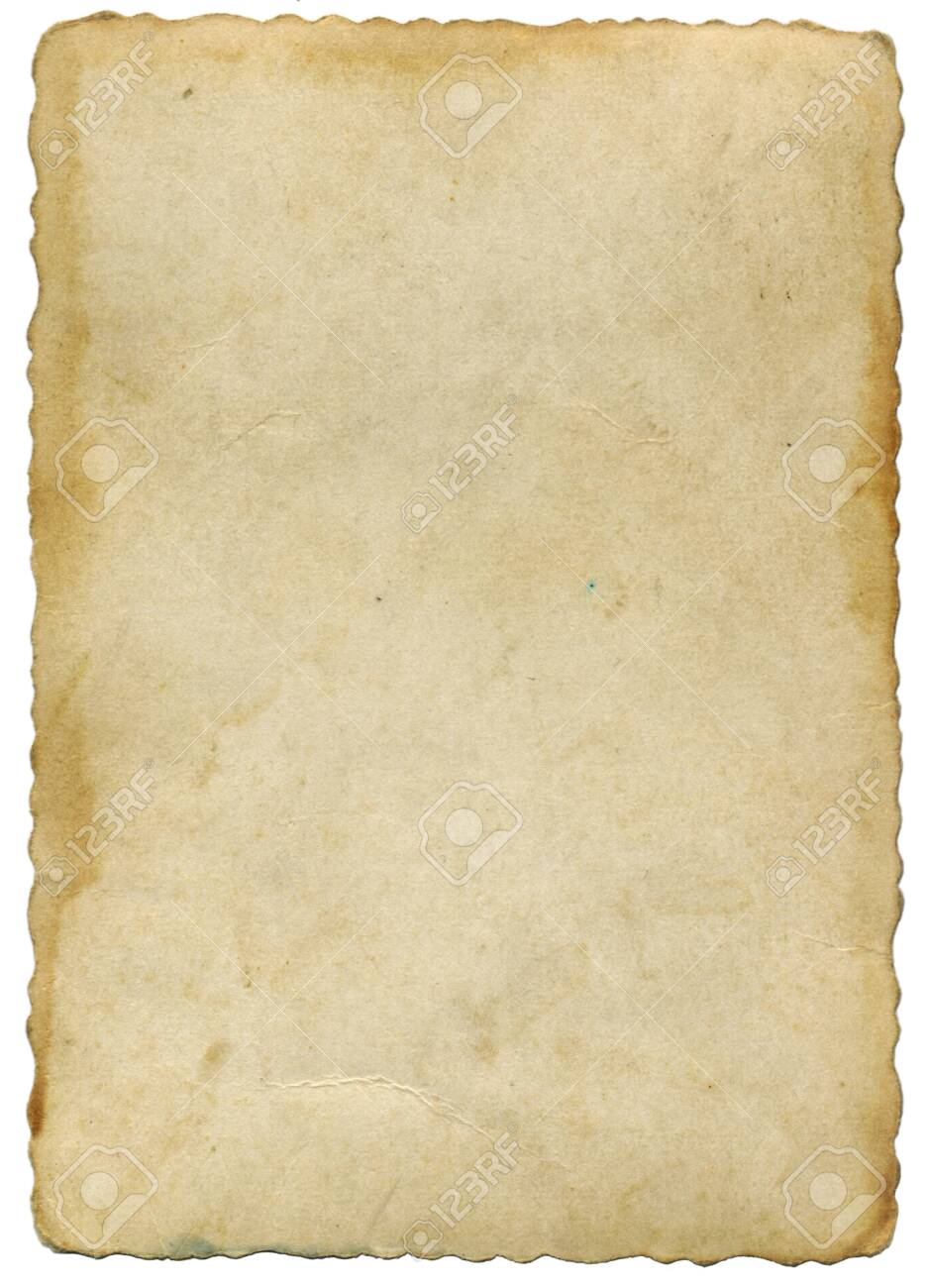 Old yellowed parchment - 124313879