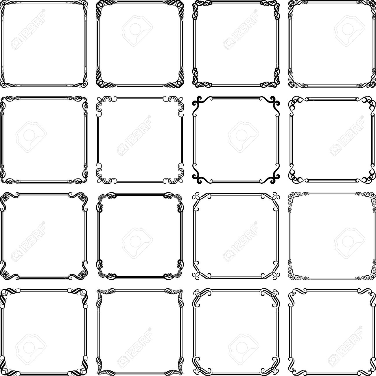 set of isolated vintage frames - 135639197