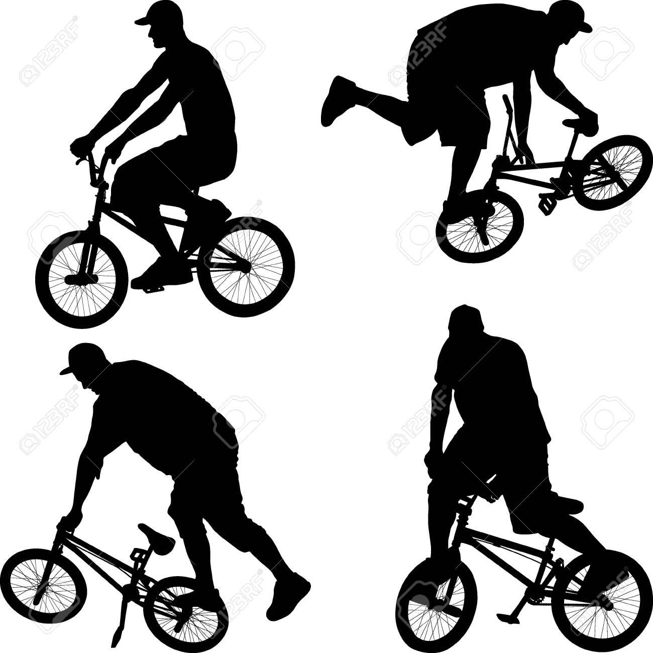 male doing bike trick on BMX bicycle - 138717083