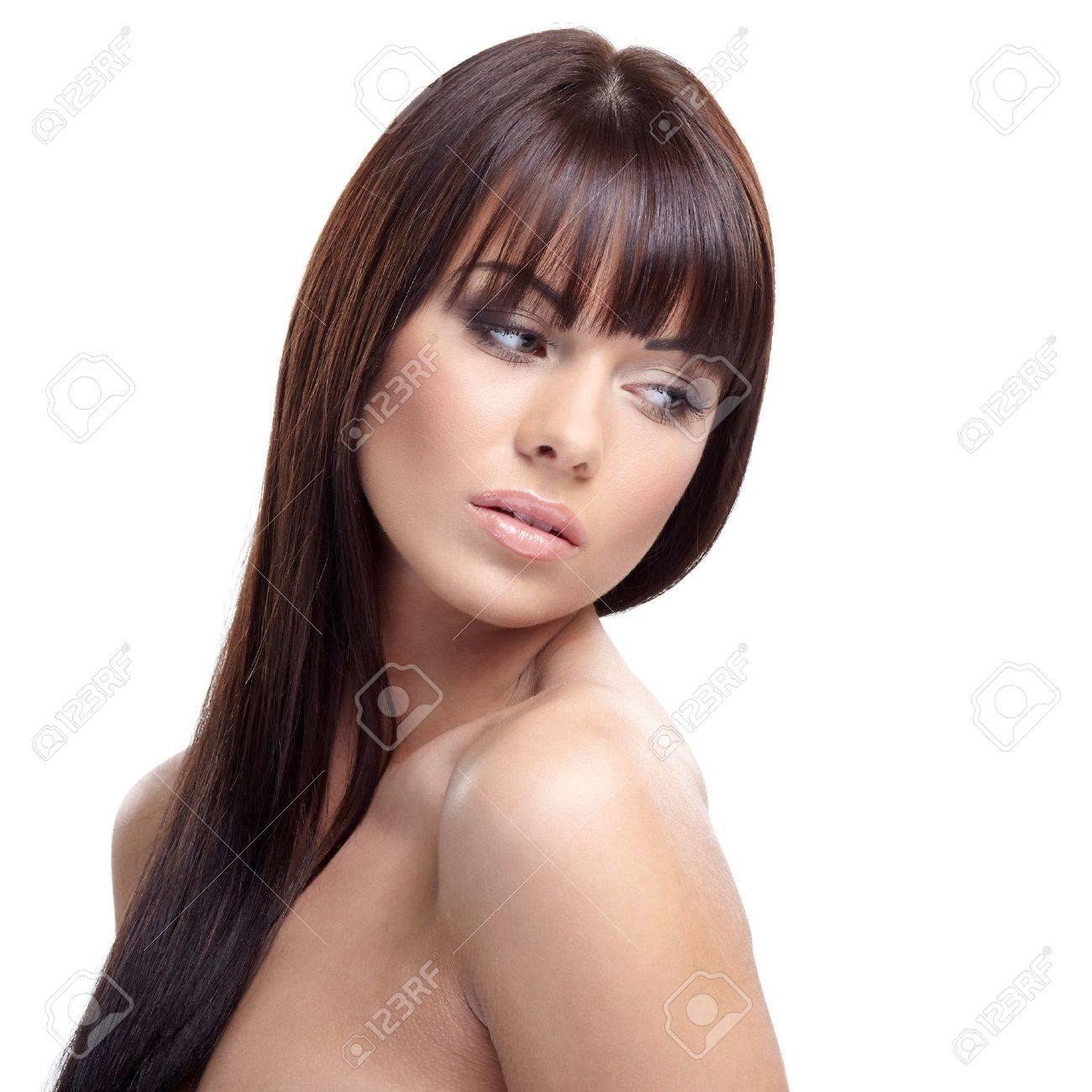 Portrait of beautiful female model on white background Stock Photo - 16796441