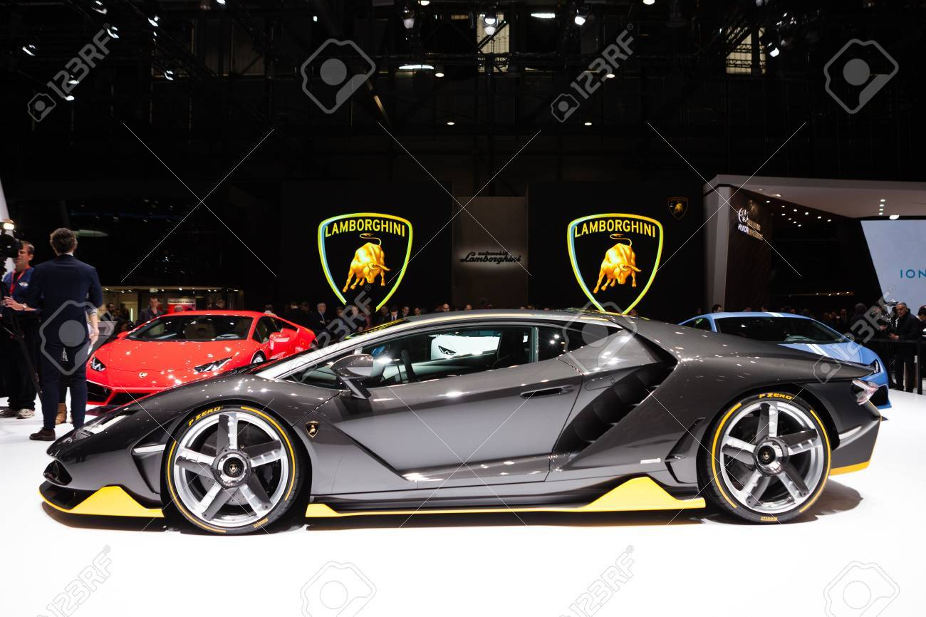 Geneva Switzerland March 1 Geneva Motor Show On March 1 Stock