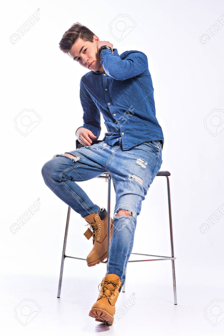 Model jeans image Male Model In Denim Jeans Studio Shoot Stock Photo Picture And Royalty Free Image Image 73412108