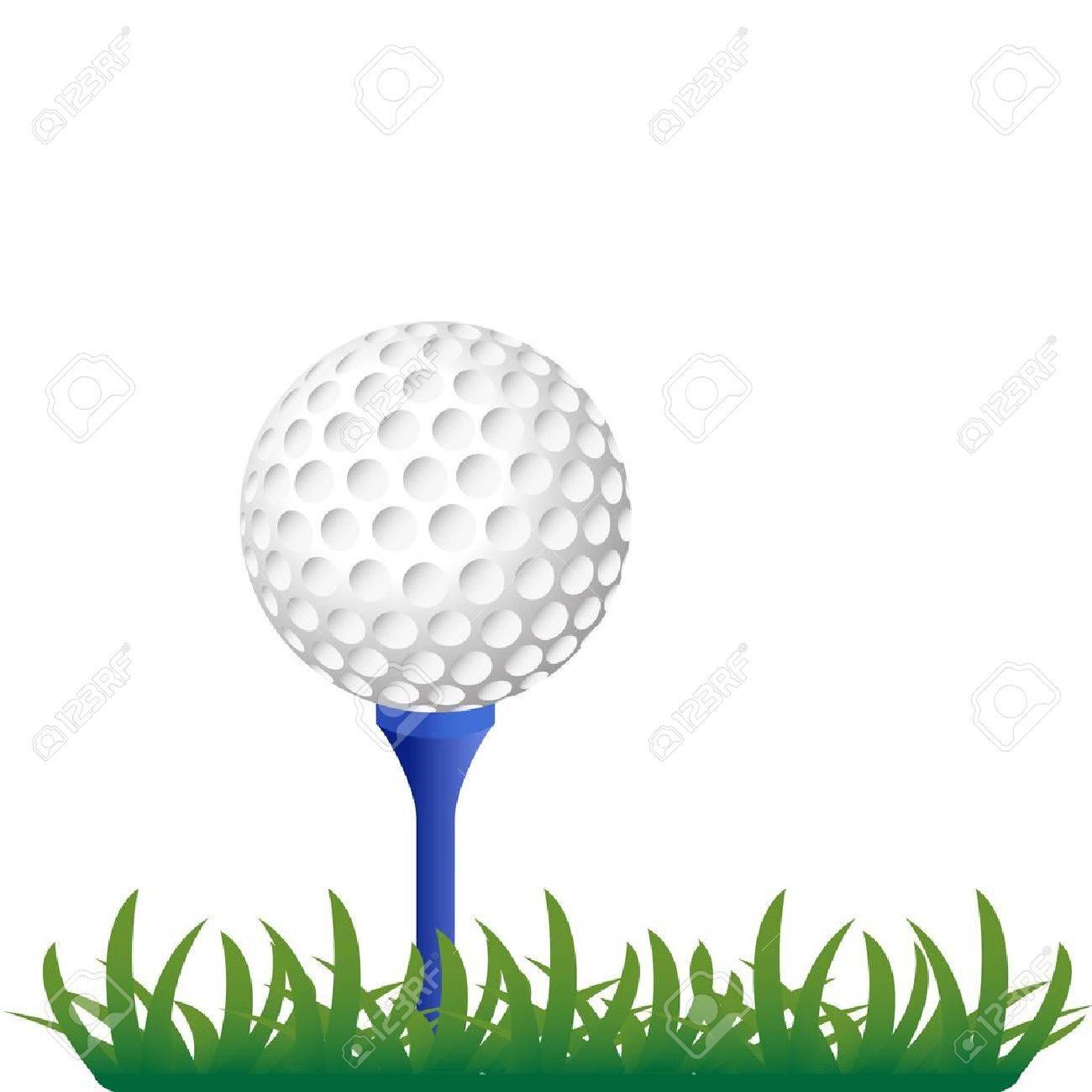 golf ball on grass illustration Stock Vector - 12430799