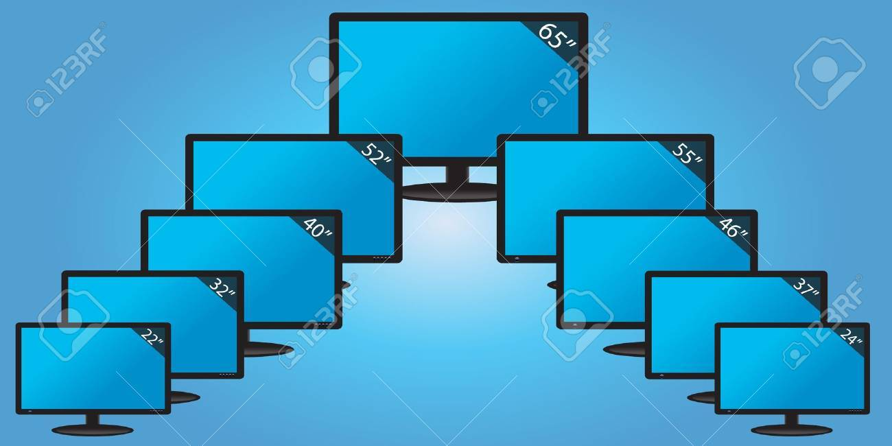 Different TFT displays with size tags Stock Vector - 12865644