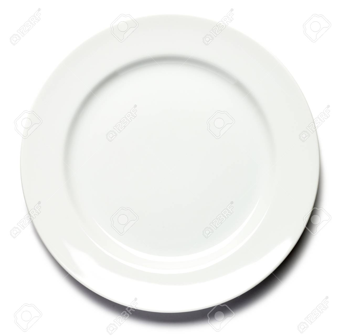 Dinner Plate On White Background Stock Photo Picture And Royalty Free Image Image 31759914