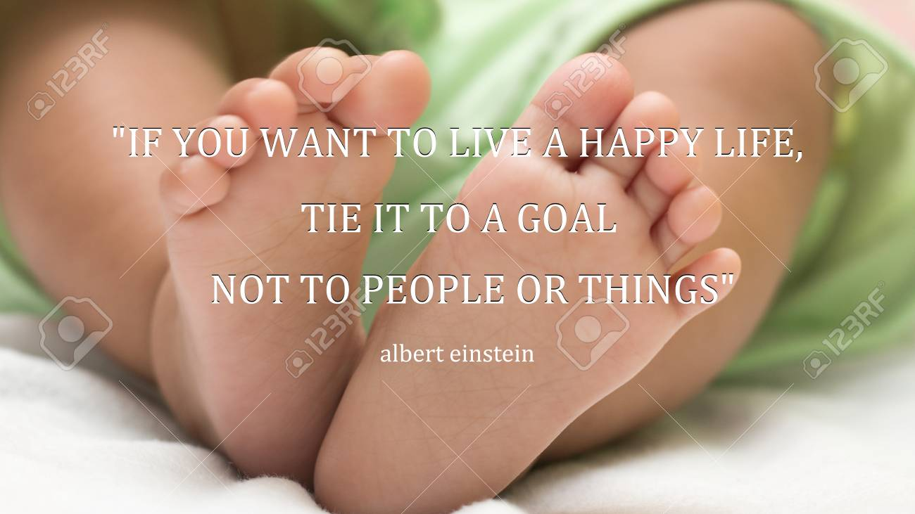 Inspirational Quote Albert Einstein Happy Life On Newborn Baby