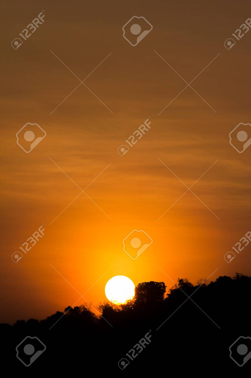 Beautiful Sunset Background For Mobile Wallpaper Stock Photo