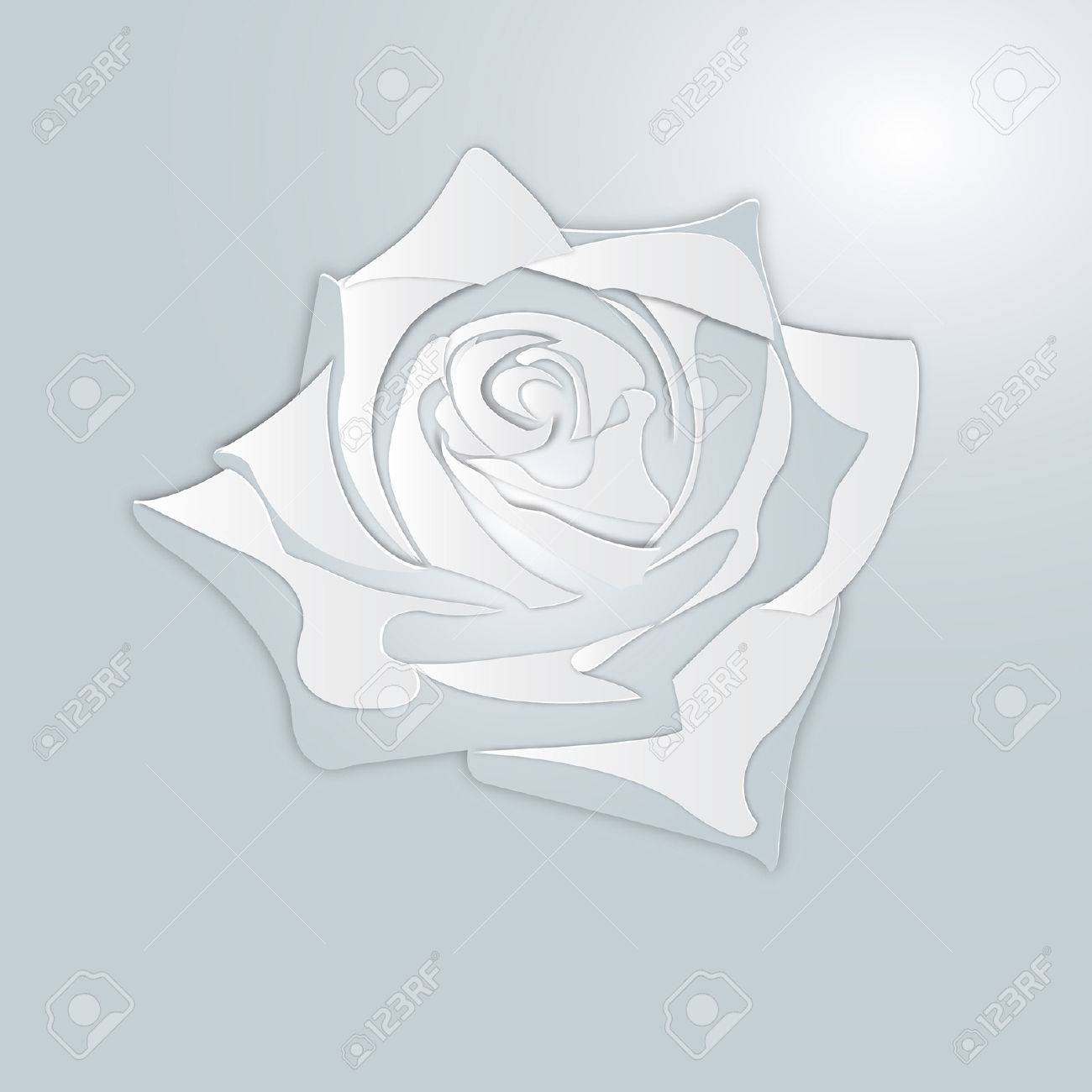 White Rose Like Paper Royalty Free Cliparts Vectors And Stock