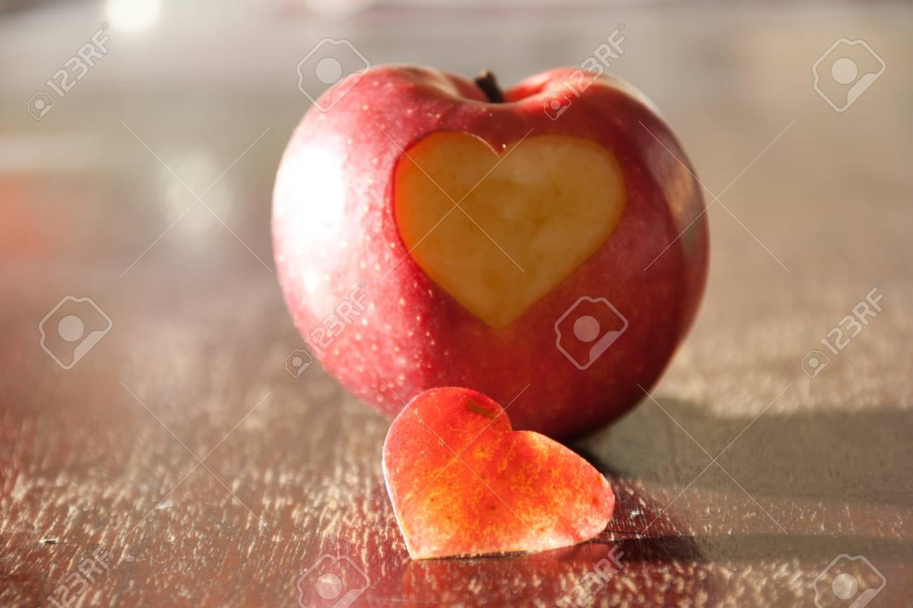 Apple - heart. Apple, which cut a heart. - 24175215