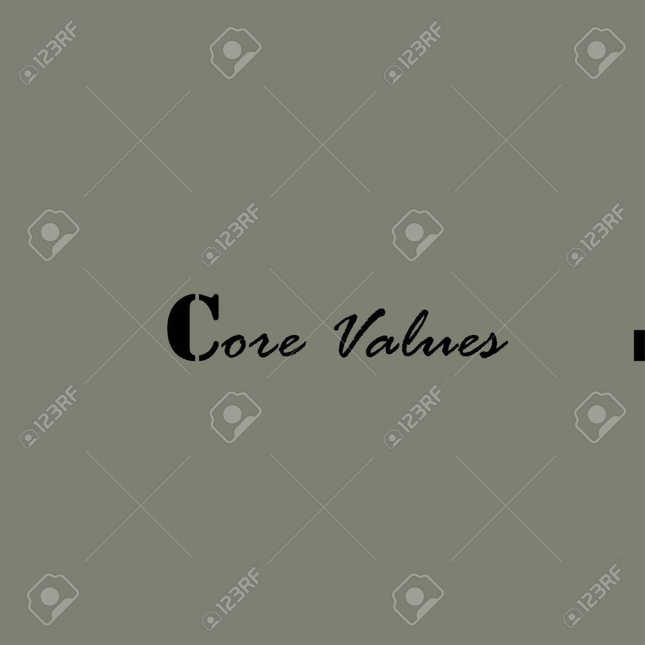 core values illustration template for the card or poster royalty