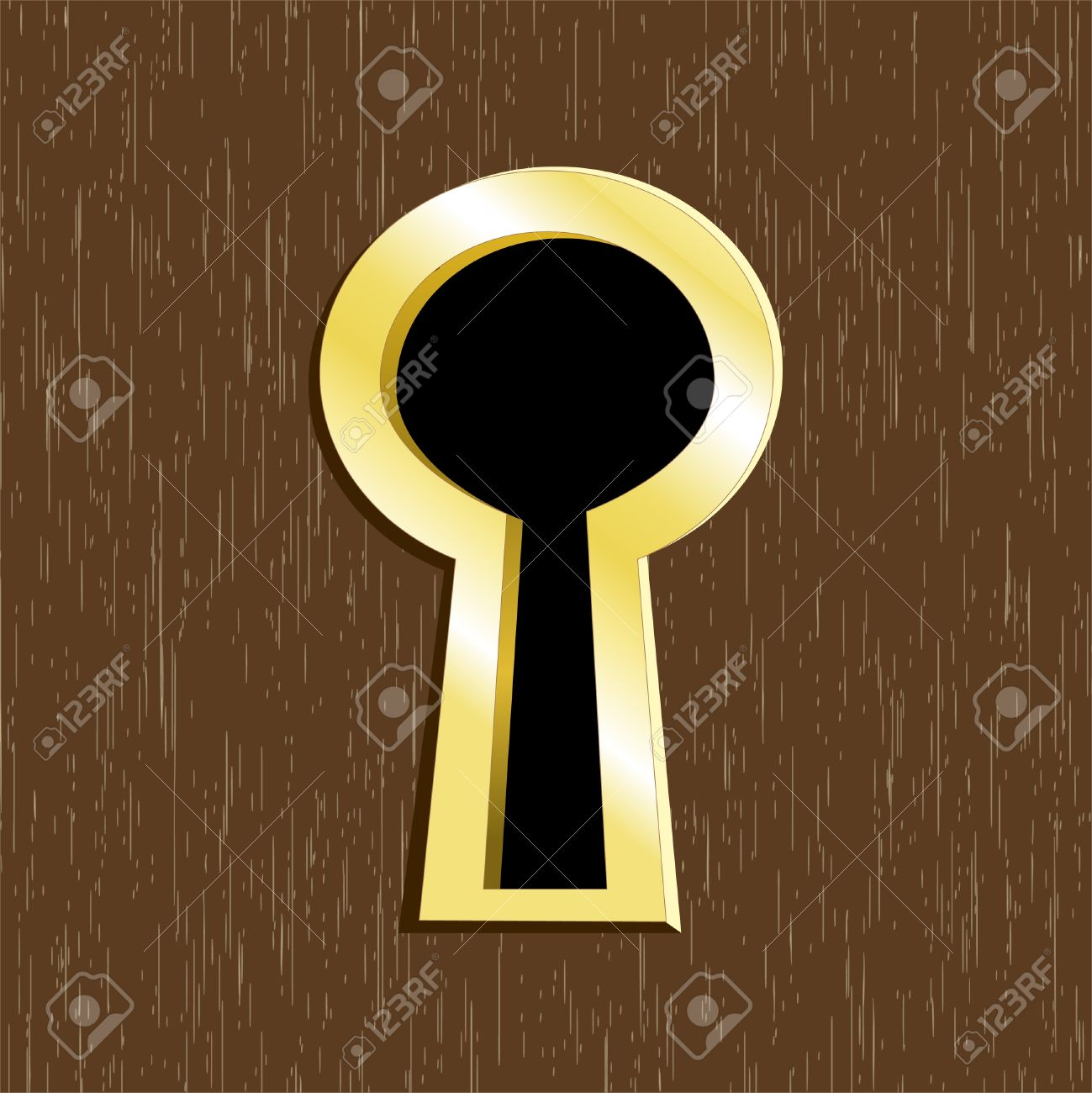 Set with africa animals black white stock vector 169 insima - Inquisitive Door Keyhole Of Golden Metal On Dark Wooden Door