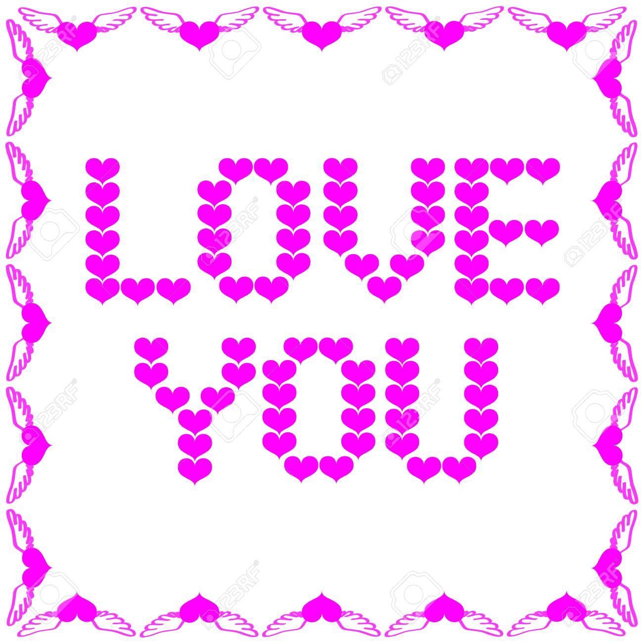Love You, Happy Valentine Stock Photo - 11862115