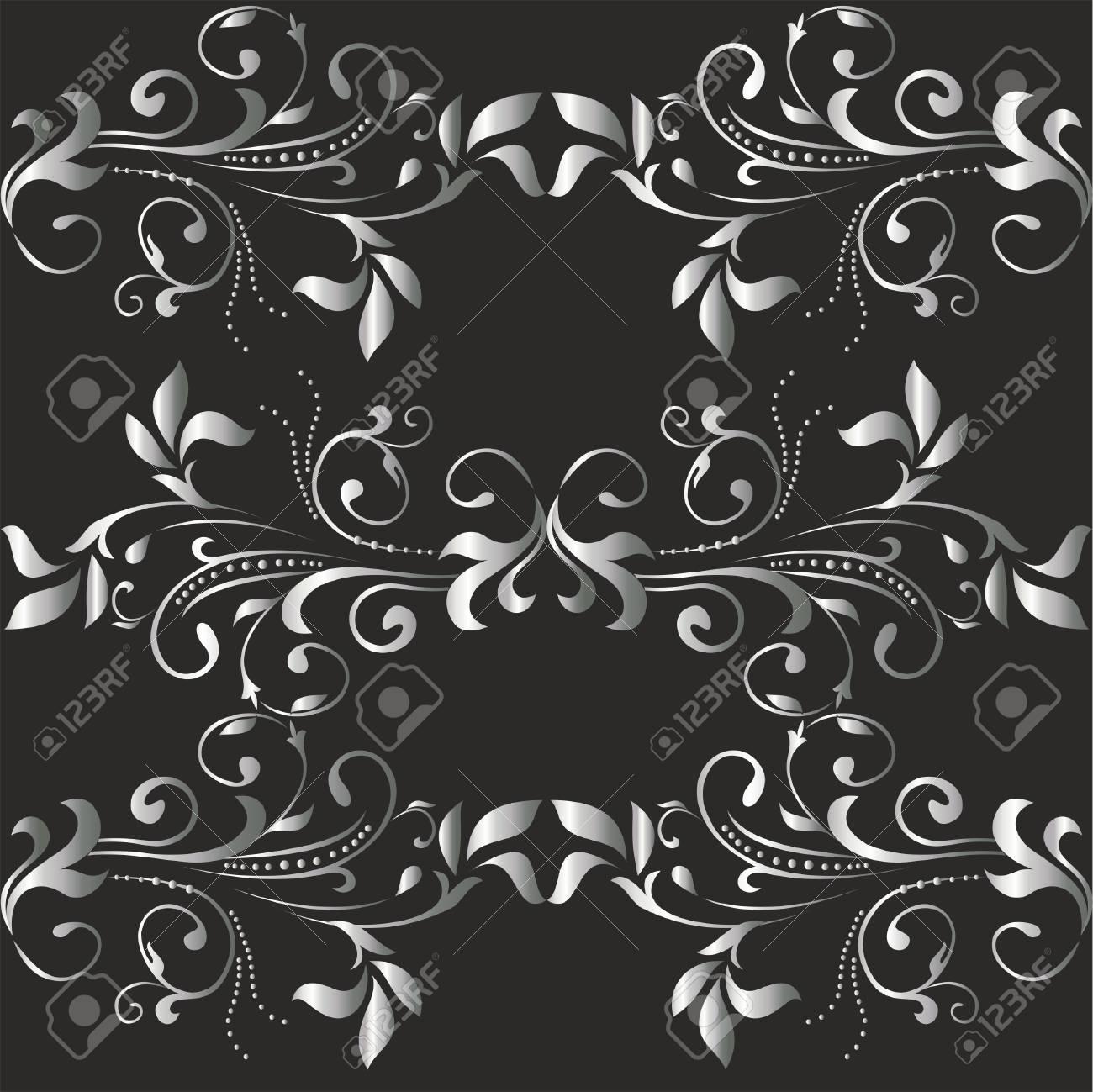 Seamless retro background, floral wallpaper Stock Vector - 13707758