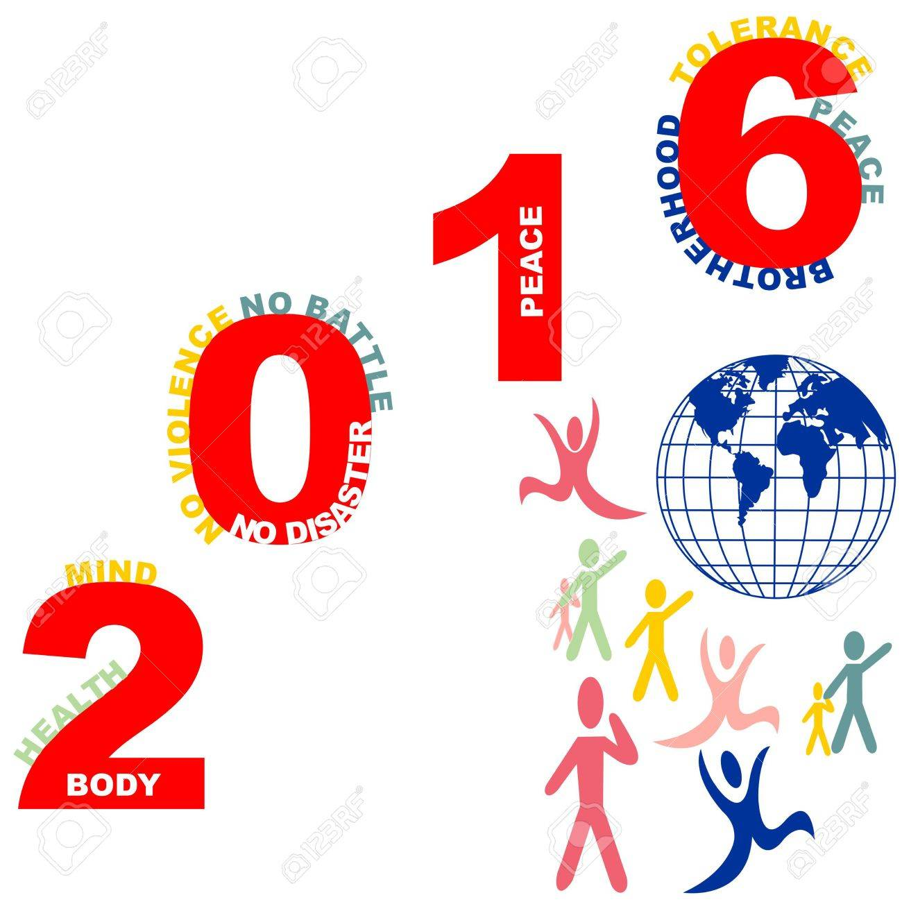 Happy New Year Card New Year Wishes New Year Message On A White ...