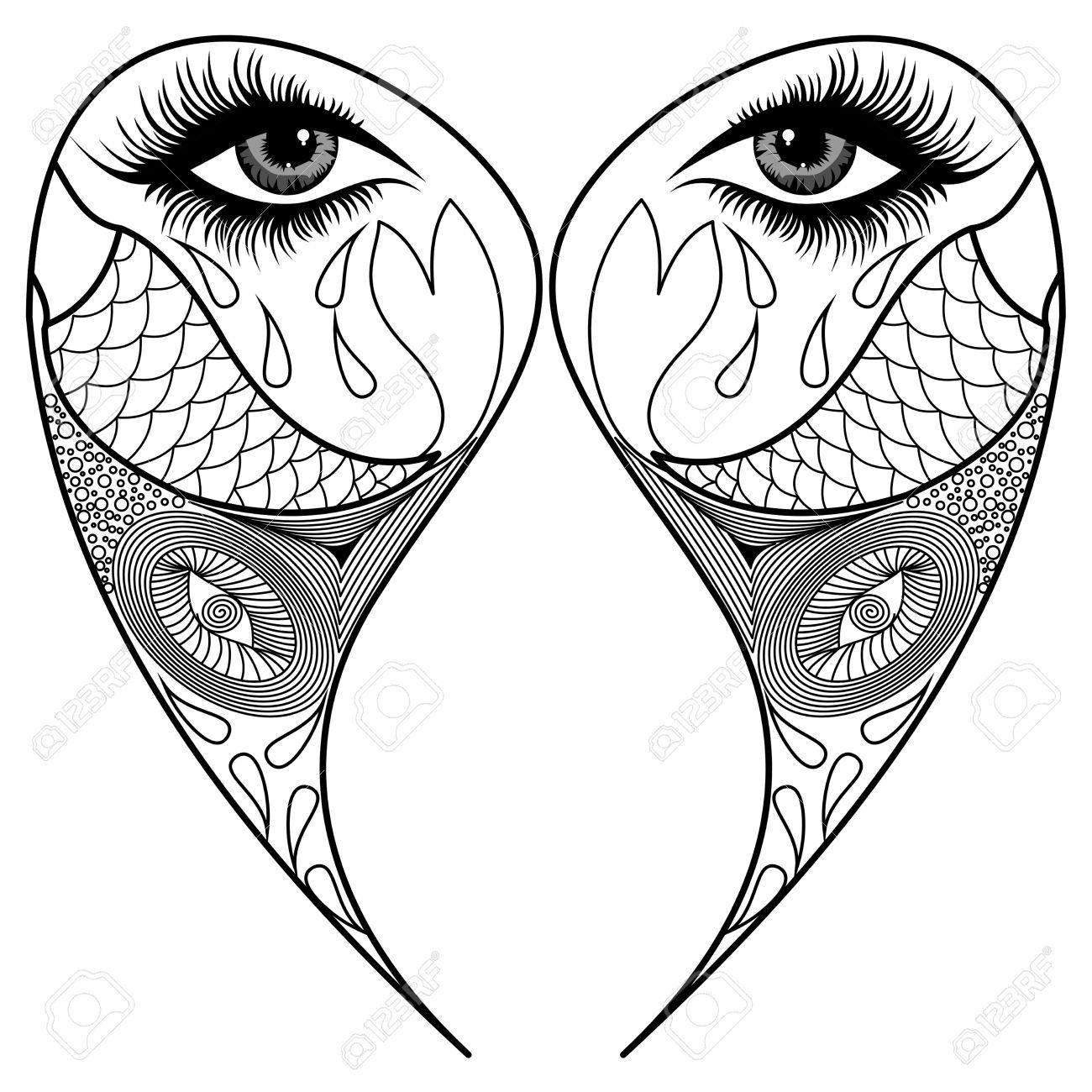 Blanco Y Negro Mandala, Páginas Para Colorear, Diseño De La Tela ...