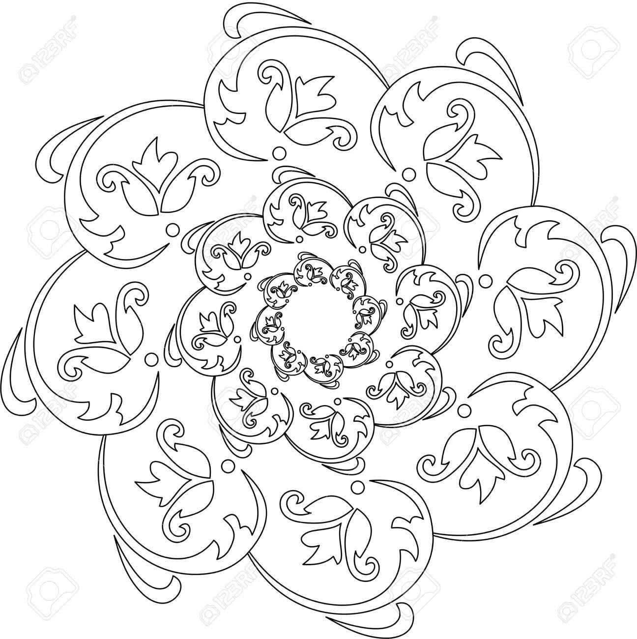 Schwarz Weiß Mandala Mandala Malvorlagen Ausmalbilder Mandala