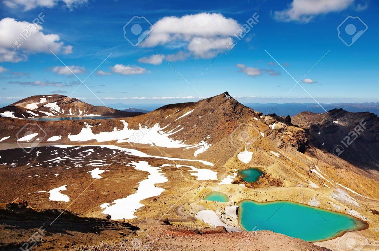 Emerald Lakes, Tongariro National Park, New Zealand Stock Photo - 4193809