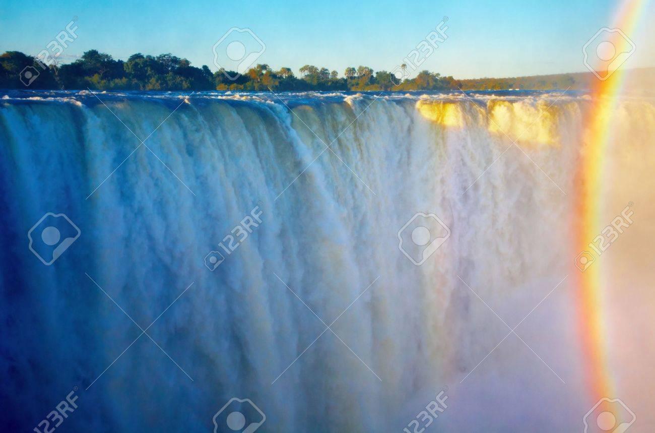 Victoria Falls at sunset, Zimbabwe Stock Photo - 4754181