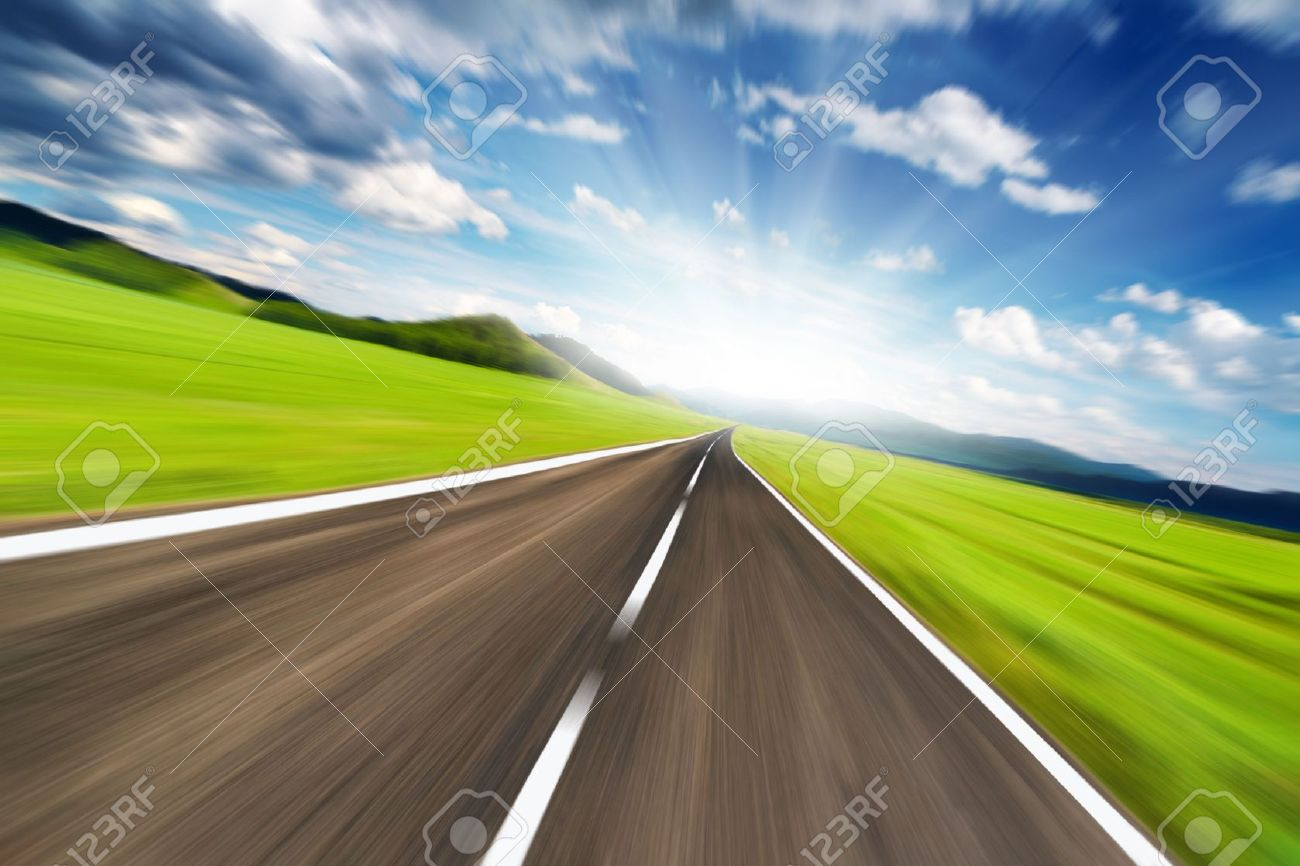Empty road with motion blur Stock Photo - 5227519