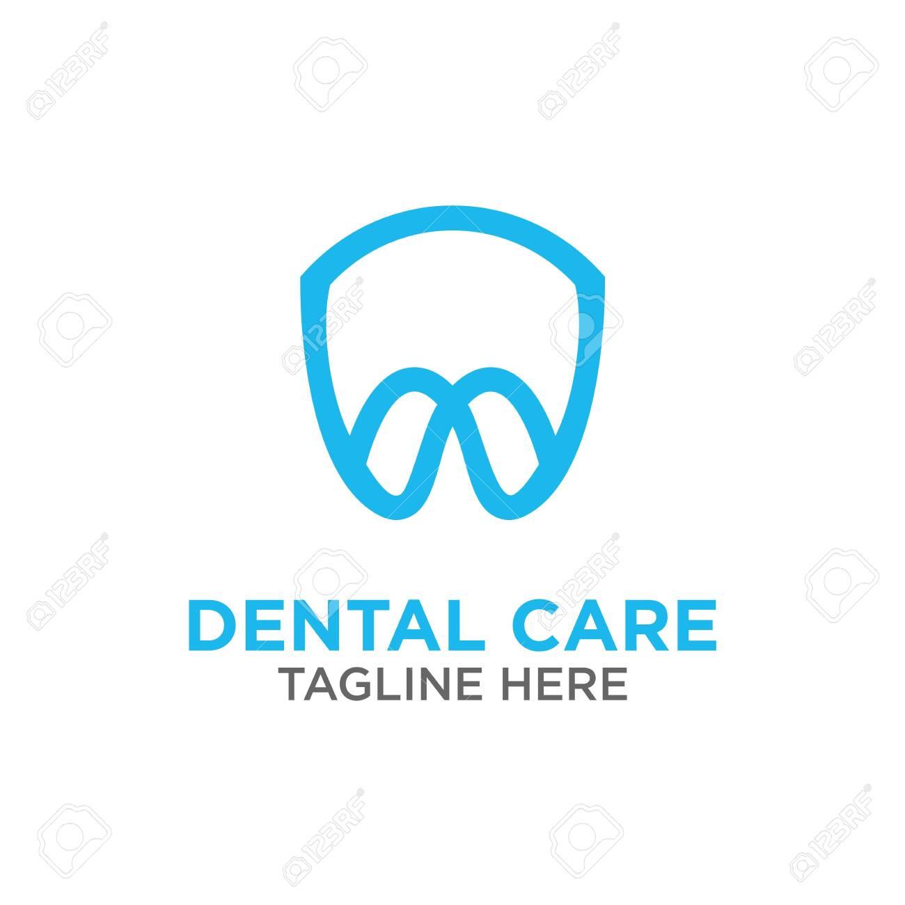 modern Creative dental care clean blue teeth logo vector - 140816776