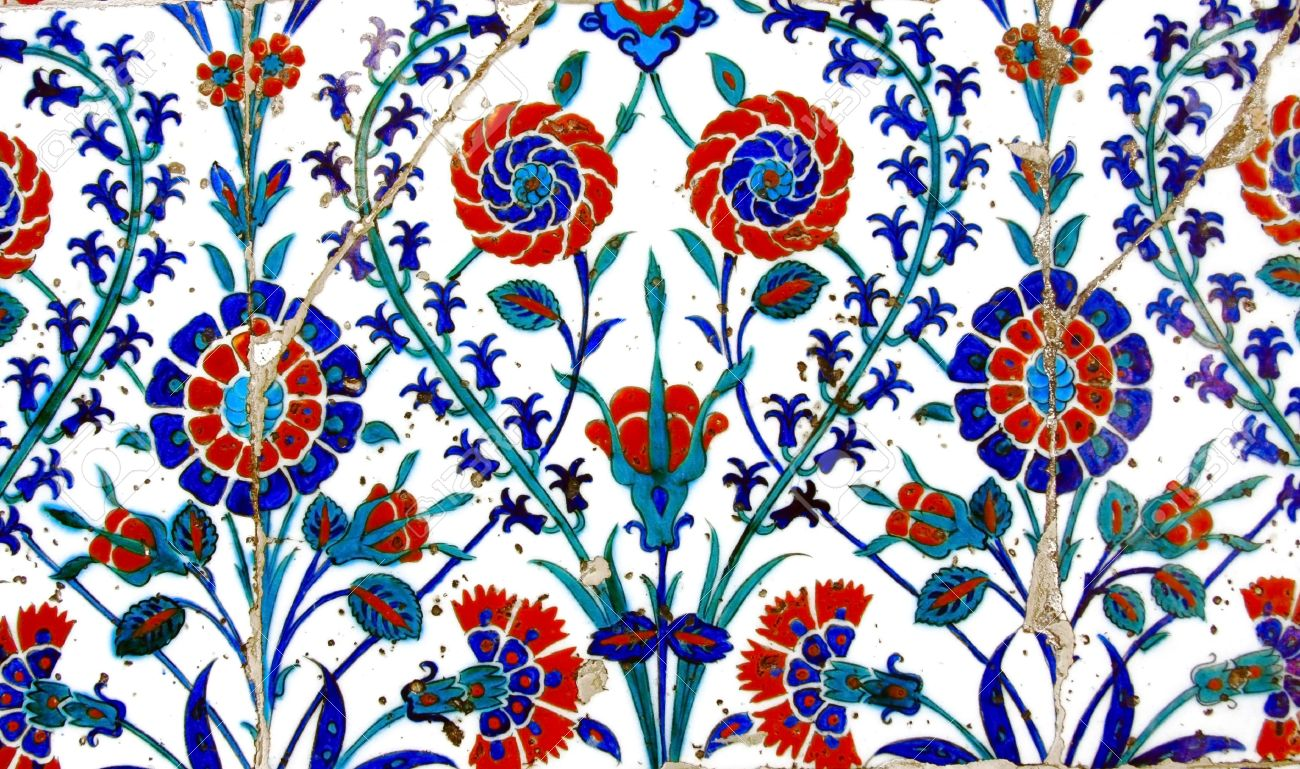 Ancient Handmade Turkish Tiles Stock Photo Picture And Royalty