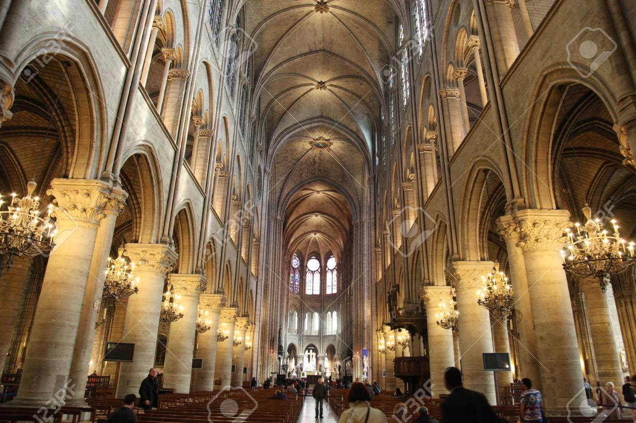 Image result for notre dame interior images