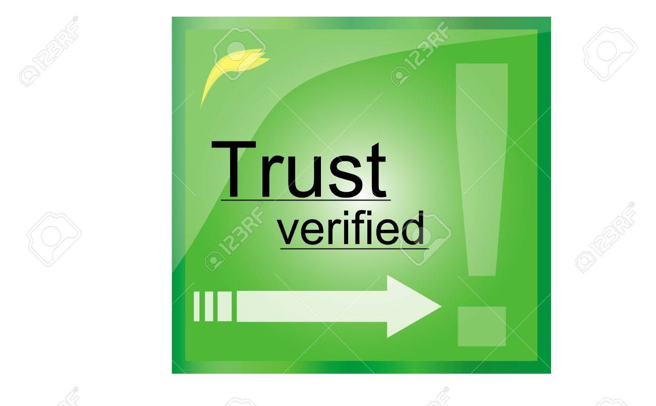 Illustration of firewall green trust mark Stock Photo - 12654306