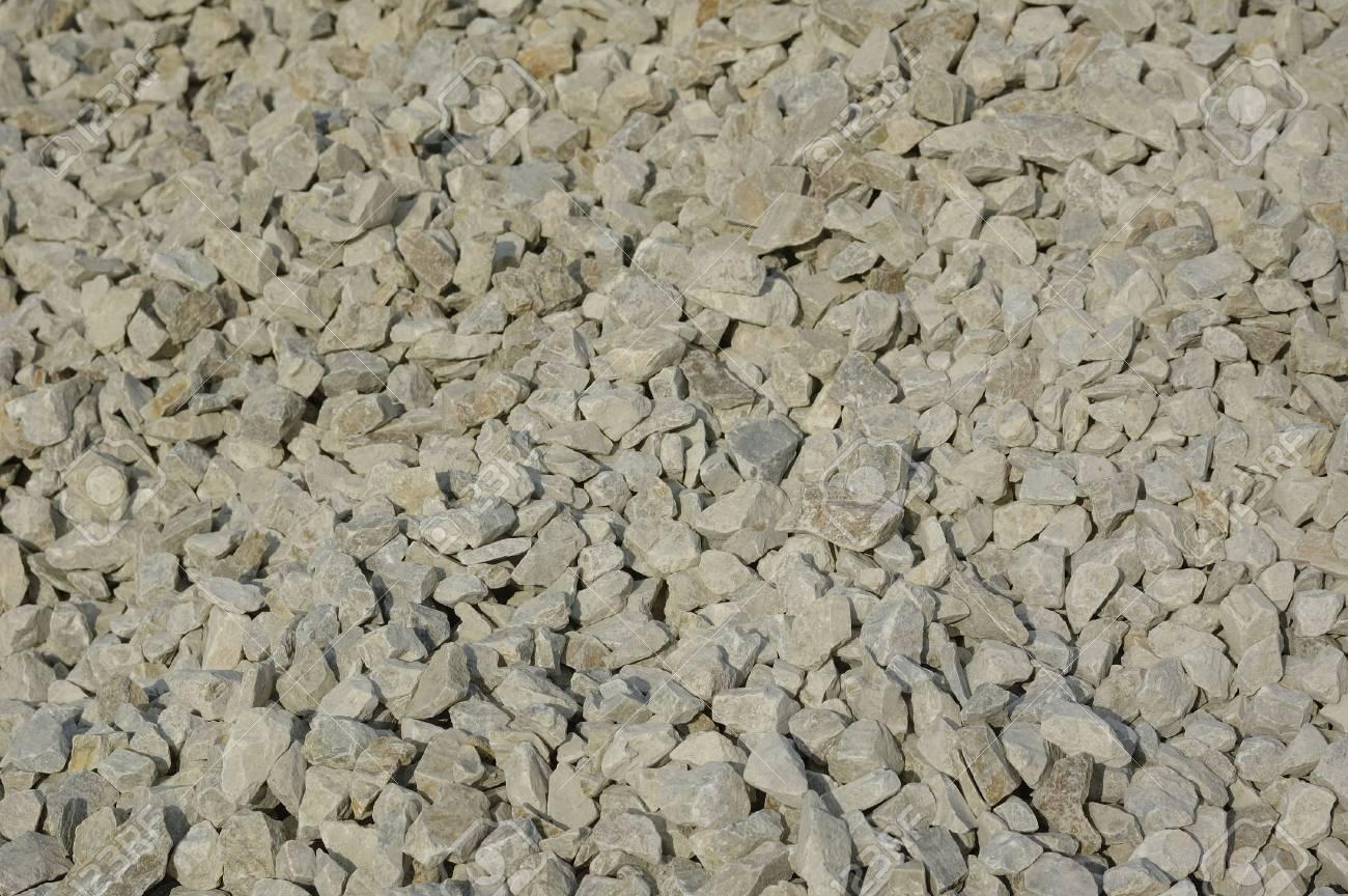 Crushed stone background. Gray granite Stock Photo - 3428607