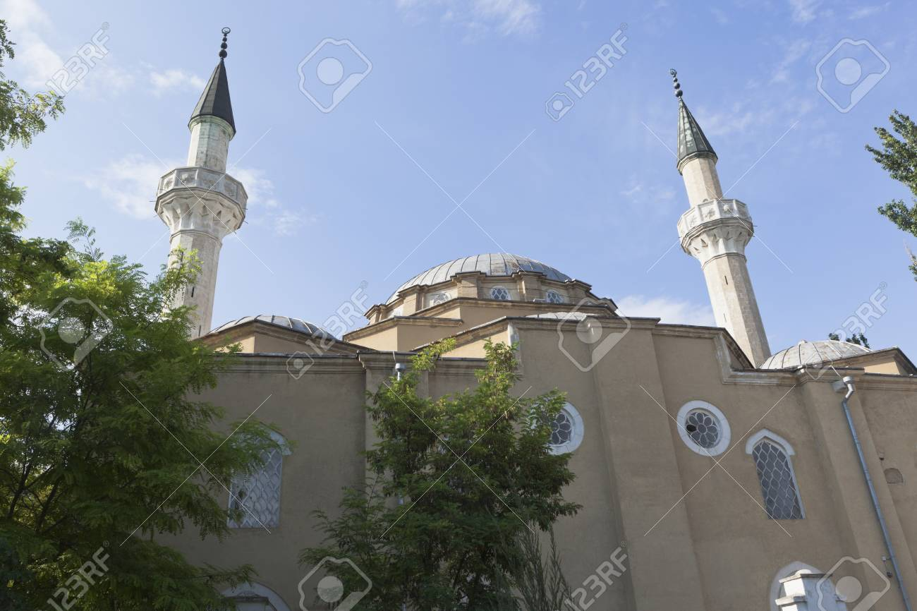 Cathedral Mosque Juma Jami In The City Of Evpatoria Republic Stock Photo Picture And Royalty Free Image Image 84772579