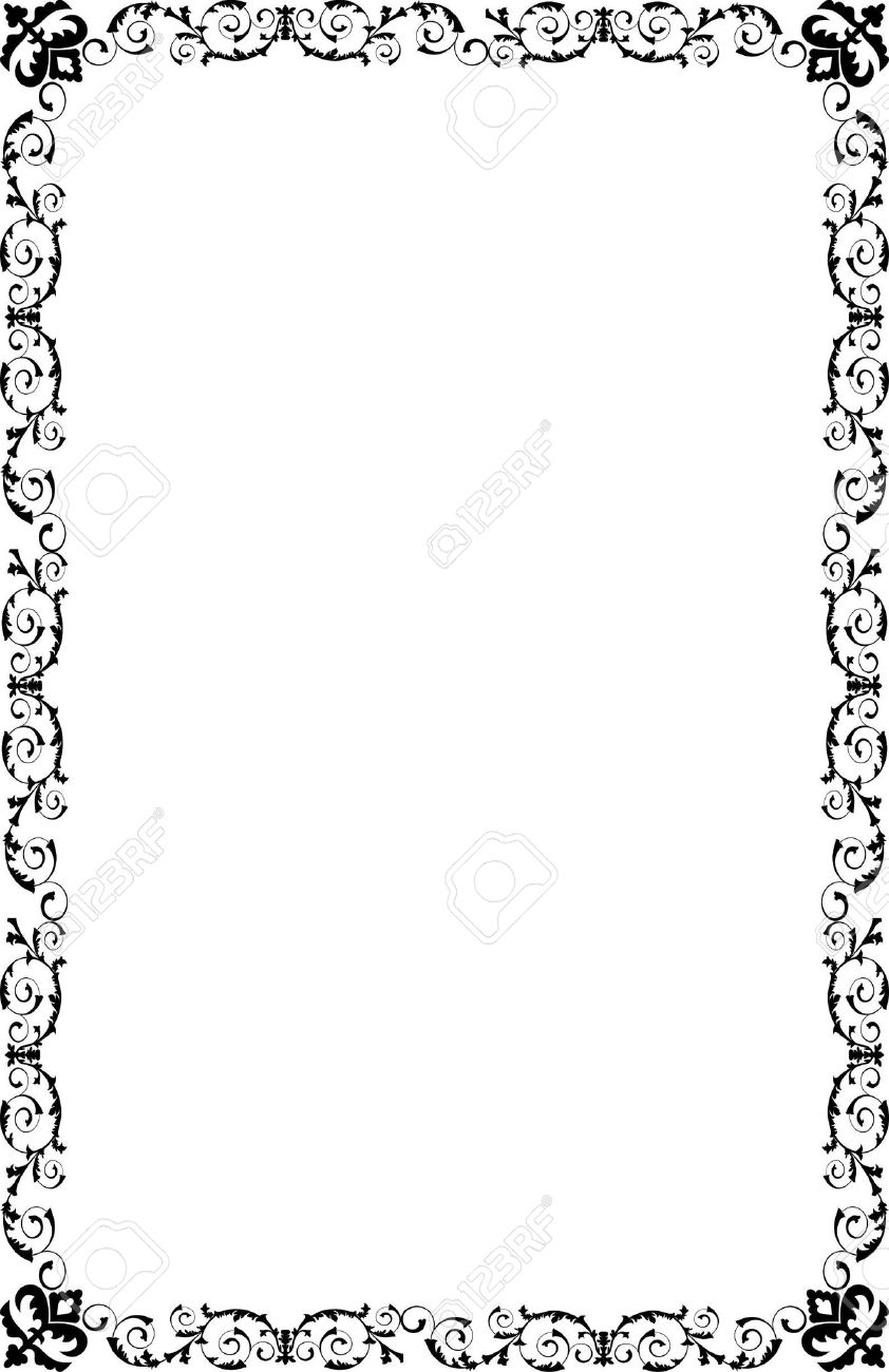 A4 Size Ornamental Borders Royalty Free Cliparts, Vectors, And Stock ...