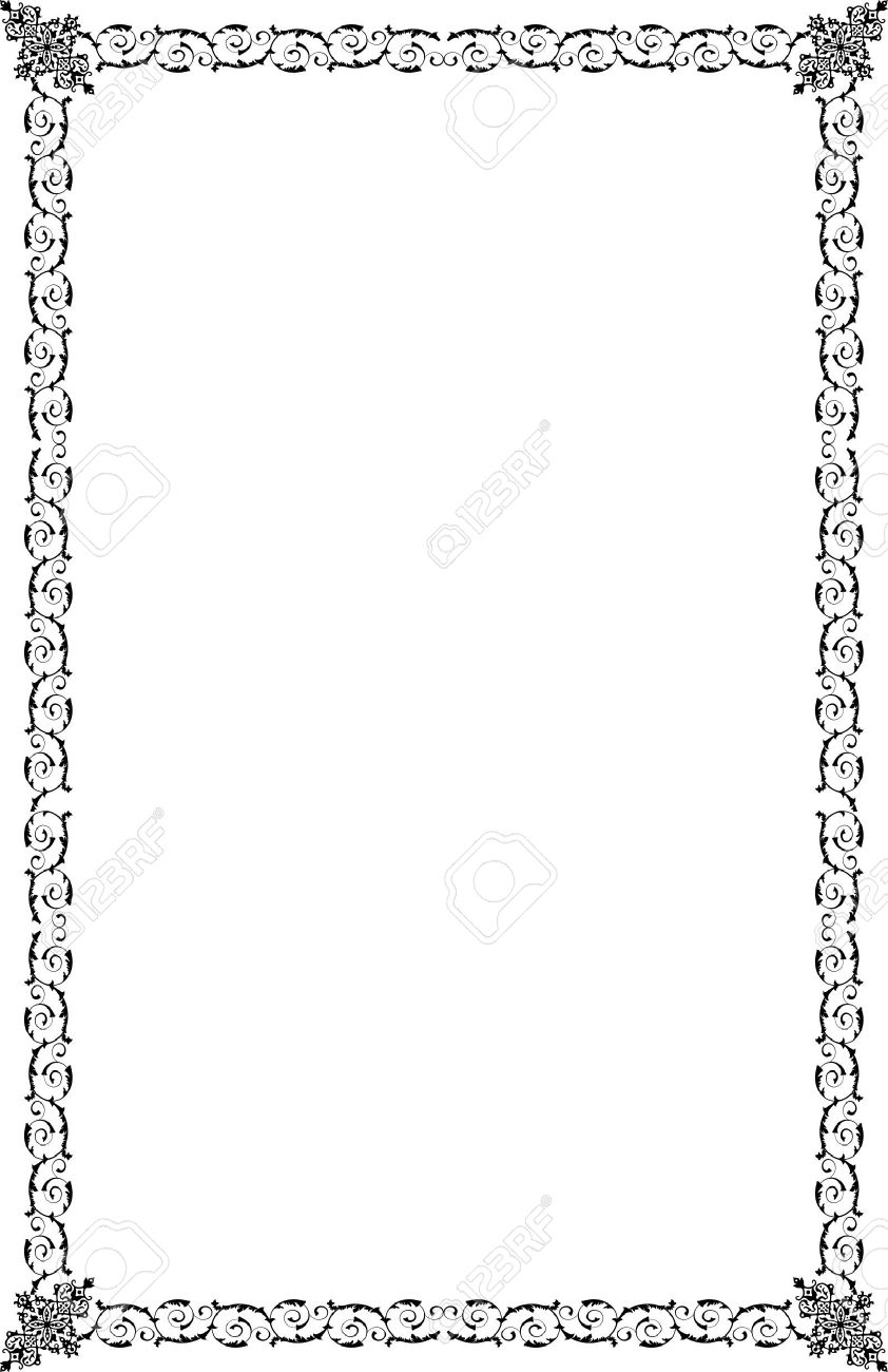 A4 Size Ornamental Borders Royalty Free Cliparts, Vectors, And ...