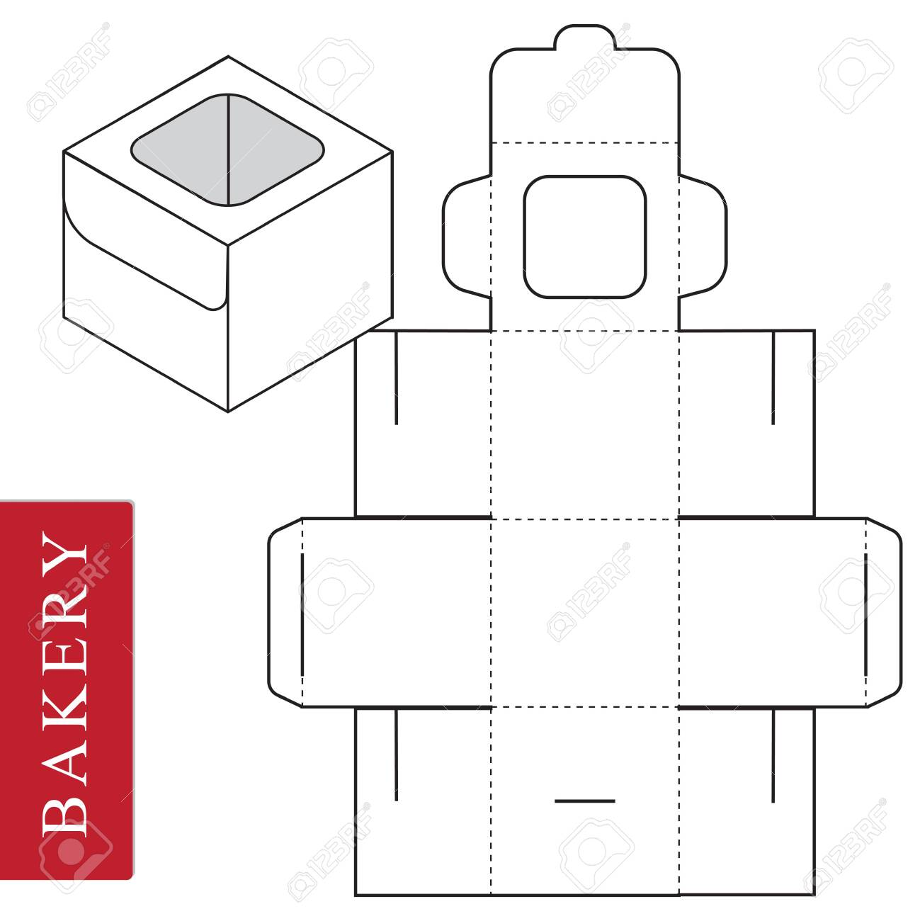 Package template for bakery food or Other items. - 122006689