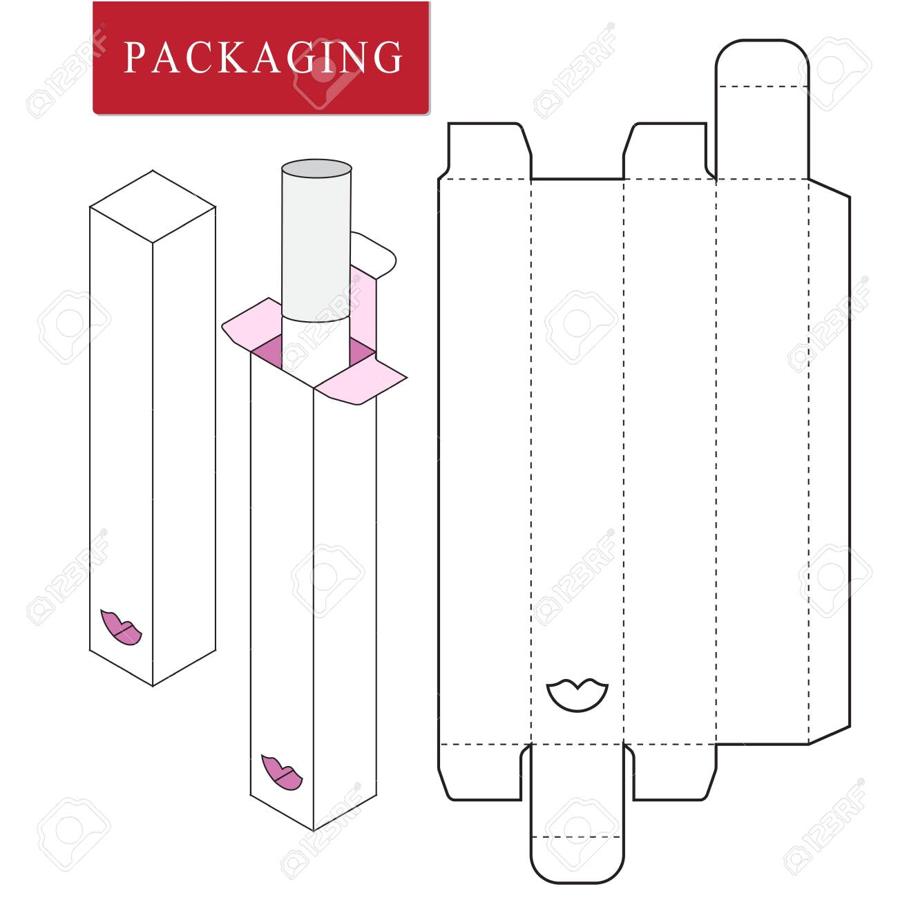 Package For Object Vector Illustration Of Box Package Template Royalty Free Cliparts Vectors And Stock Illustration Image 123945506