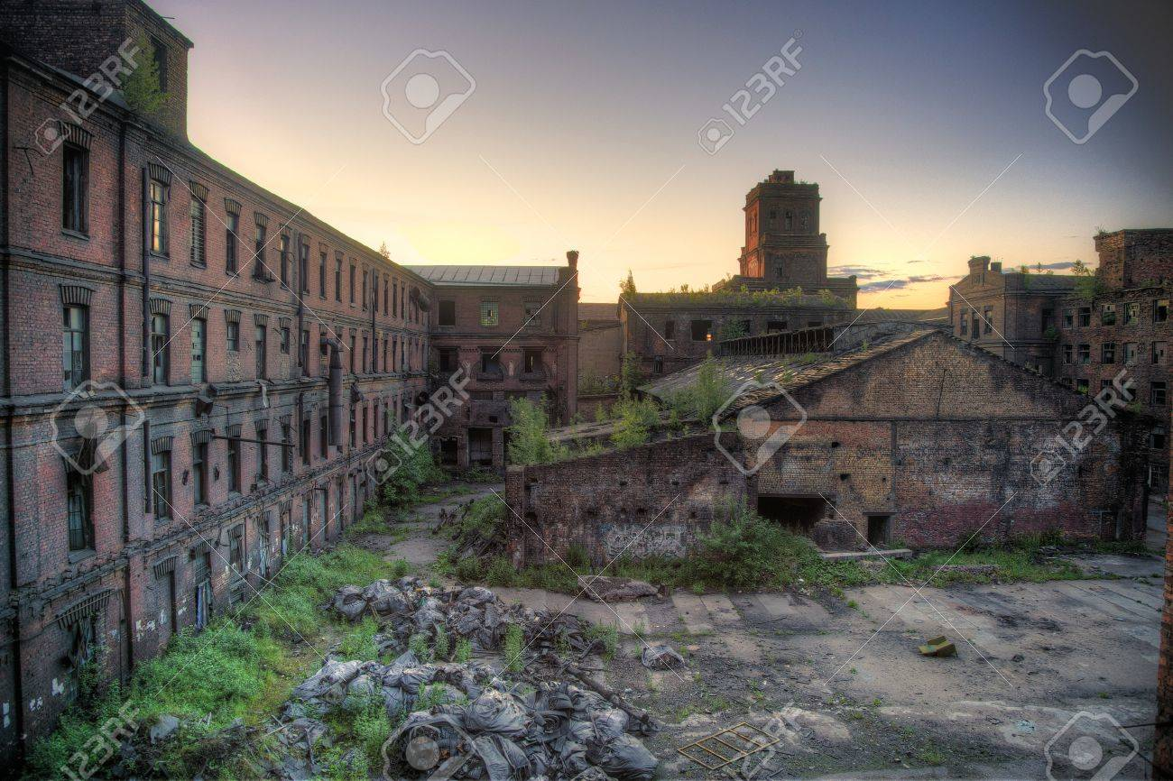 Abandoned Factory Red Triangle, Saint Petersburg, Russia. Location ... for Abandoned Factory Russia  181pct