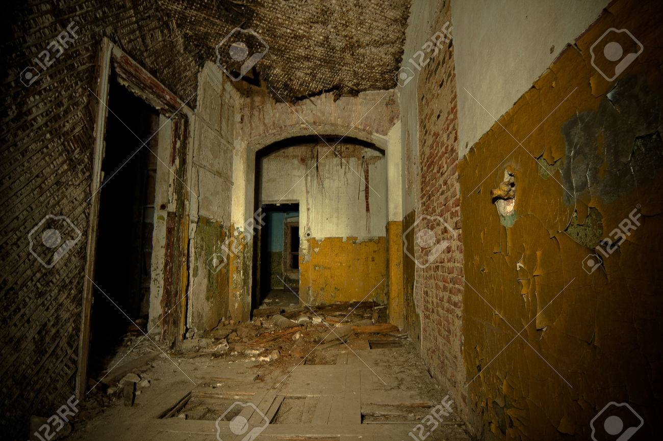 Inside Of Old Creepy Abandoned Mansion Former Manor Of Karl Stock Photo Picture And Royalty Free Image Image 79131570