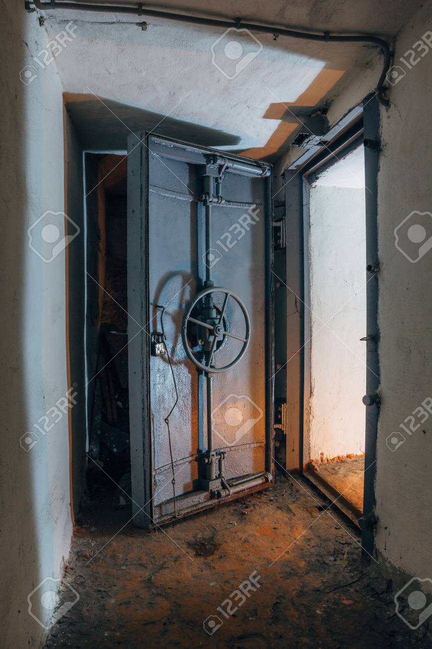 Opened hermetic door of an abandoned Soviet bomb shelter an echo of the Cold War & Opened Hermetic Door Of An Abandoned Soviet Bomb Shelter An.. Stock ...