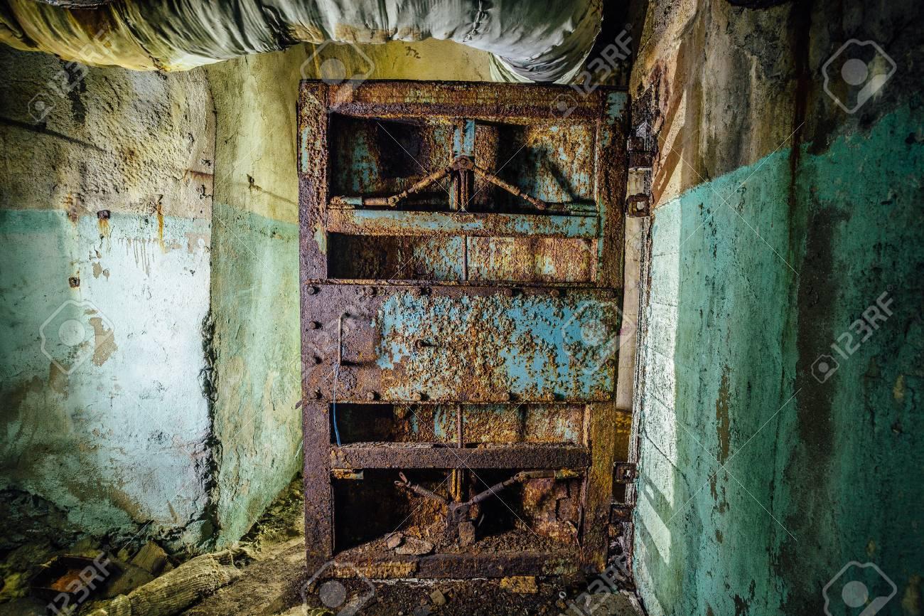 Old rusty steel armored door in abandoned soviet military bunker Sevastopol Stock Photo - 82929581 & Old Rusty Steel Armored Door In Abandoned Soviet Military Bunker ...