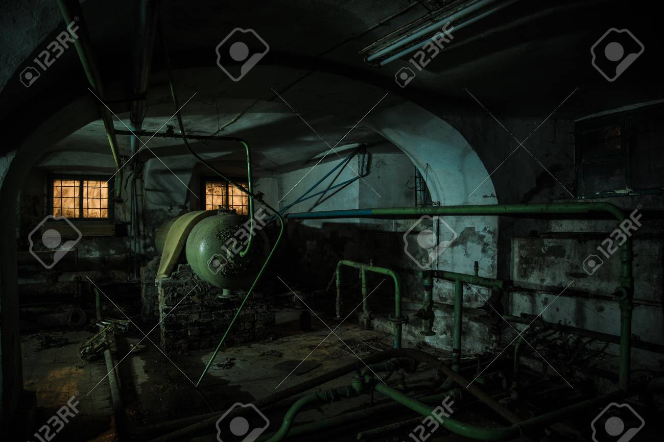 Old Creepy Cellar Of Abandoned Asylum Old Rotten Boiler Heating Stock Photo Picture And Royalty Free Image Image 92265426