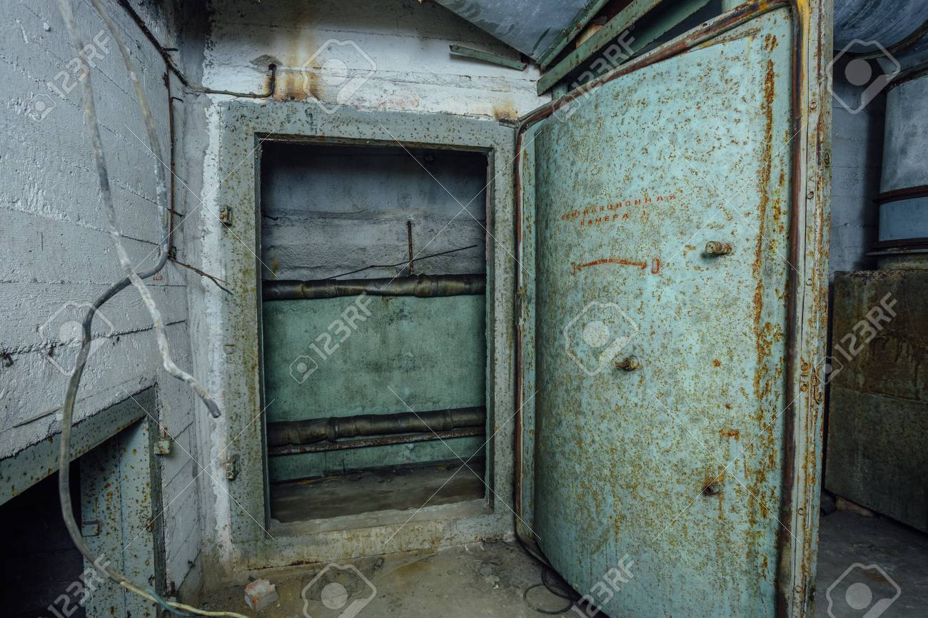 Old rusty steel armored door in abandoned soviet military bunker Sevastopol Stock Photo - 94573199 & Old Rusty Steel Armored Door In Abandoned Soviet Military Bunker ...